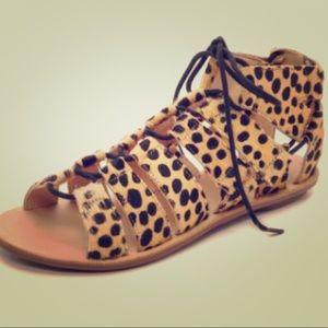 Loeffler Randall Pascal Sandal in Cheetah-size 9